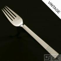 Georg Jensen Silver Dinner Fork, Large - Parallel/ Relief - VINTAGE