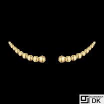 Georg Jensen. 18k Gold Earrings / Ear Cuffs #1551A - Moonlight Grapes