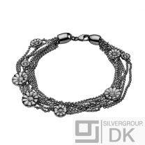 Georg Jensen DAISY Pea Chain Bracelet # 550 C - Oxidated Silver