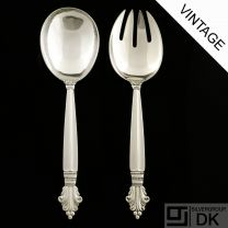 Georg Jensen Silver Serving Set, Medium - Acanthus/ Dronning - VINTAGE