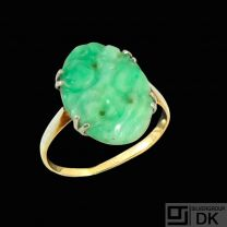 14k Gold Ring with Jade.