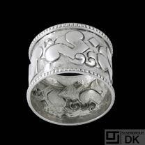 Thorvald Bindesbøll (1846-1908). Silver Napkin Ring.