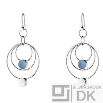 Georg Jensen REGITZE Earhooks # 466 A with Blue Jade