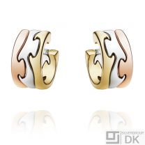 Georg Jensen Yellow, Red and White Gold Earrings # 1503 - FUSION