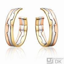 Georg Jensen 18 Ct. Gold Earhoops # 1511 D - FUSION