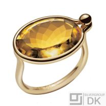 Georg Jensen Gold Ring with Citrine - Savannah #1506