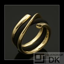 Georg Jensen Gold Ring with Rubber Band - Magic #1314