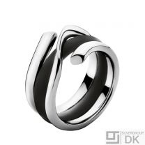 Georg Jensen White Gold Ring with Rubber Band - Magic #1314