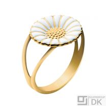 Georg Jensen Gilded Silver Daisy Ring - 11 mm