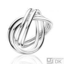Georg Jensen Silver Ring # 554 B - ALLIANCE - Double
