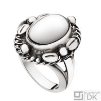 Georg Jensen Silver Ring # 1A - MOONLIGHT BLOSSOM - Heritage Collection