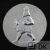"Georg Jensen Silver Medal Coin - H.C. Andersen ""The Emperor's New Clothes"" - Arno Malinowski"
