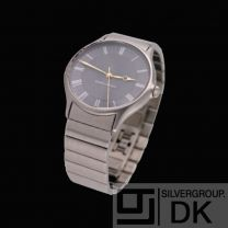 Georg Jensen Men's Watch # 381 Steel with Grey Dial