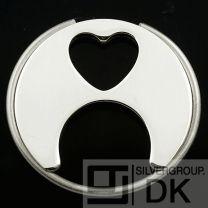 Georg Jensen Silver Heart Keyring # 422