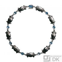 Georg Jensen Silver Necklace #15 Moonlight Blossom with Moonstone