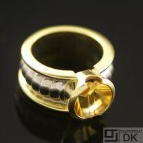 Georg Jensen Gold Ring w/ Citrine - On Track