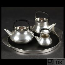 Georg Jensen Coffee & Tea Set, Pewter - Henning Koppel - VINTAGE