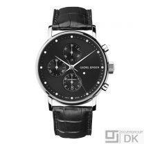 Georg Jensen Men's Chronograph # 492 - Black Dial - KOPPEL