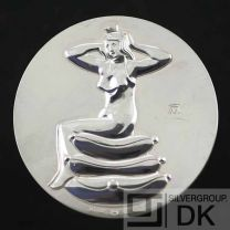 """Georg Jensen Silver Medal Coin - H.C. Andersen """"The Princess and The Pea"""" - Arno Malinowski"""