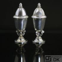 Georg Jensen Silver Salt and Pepper Set #741 - Acorn/ Konge