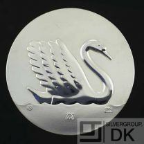 """Georg Jensen Silver Medal Coin - H.C. Andersen """"The Ugly Duckling"""" - Arno Malinowski"""