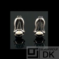 Georg Jensen Ear Clips Of The Year 2007 w. Silverstone