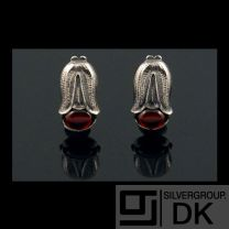 Georg Jensen Ear Clips Of The Year 2007 with Garnet