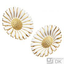 Georg Jensen Gilded Silver Ear Clips DAISY - 33 mm