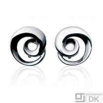Georg Jensen Silver Earrings # 343A - MOEBIUS