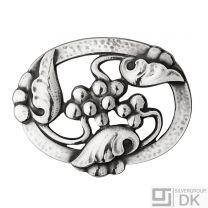 Georg Jensen Sterlng Silver Brooch #101 - MOONLIGHT GRAPES