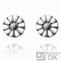 Georg Jensen Silver Flower Earrings DAISY - 7 mm