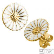 Georg Jensen Gilded Silver Earrings DAISY - 11 mm