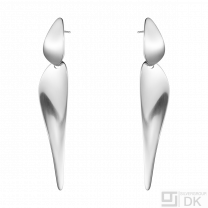 Georg Jensen. Sterling Silver Earrings #128A - Nanna Ditzel.