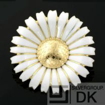 Georg Jensen Gilded Silver DAISY Brooch - 50 mm LIMITED EDITION