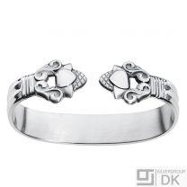 Georg Jensen Sterling Silver Napkin Ring - Acorn / Konge #376 - NEW