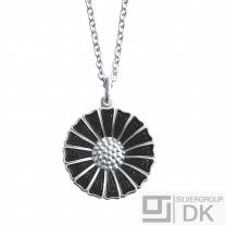 Georg Jensen Silver black DAISY Pendant - 18 mm