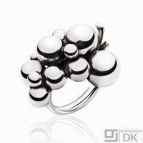 Georg Jensen Silver Ring # 551 B - MOONLIGHT GRAPES