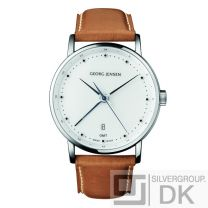 Georg Jensen Men's Dual Time Watch # 519 - White Dial - KOPPEL