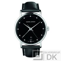 Georg Jensen Men's Dual Time Watch # 519 - Black Dial - KOPPEL