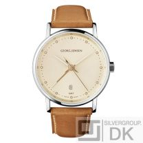 Georg Jensen Men's Dual Time Watch # 519 - Champagne Colour Dial - KOPPEL
