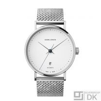 Georg Jensen Watch w/ White Dial & Steel Bracelet - Koppel K41-ST70