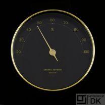 Georg Jensen LIVING Hygrometer, Brass w/ Black Dial