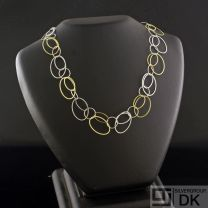 Danish Silver Necklace, Duotone - Lund Copenhagen