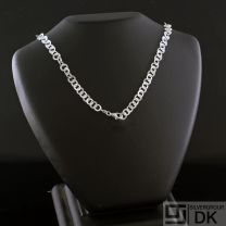 Danish Silver Necklace - Lund Copenhagen -