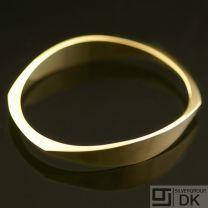 Danish Gold Bangle - Hans Hansen -VINTAGE
