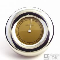Georg Jensen Hygrometer - Polished Pewter and Golden Dial