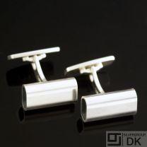 Danish Silver Tube Cufflinks - Boy Johansen - VINTAGE