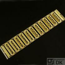 Danish Fire-gilded Silver Bracelet - Bent Exner - VINTAGE
