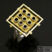 Danish Fire-gilded Silver Ring - Bent Exner - VINTAGE