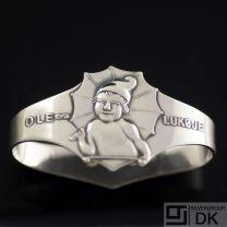 Danish Silver Napkin Ring, Ole Lukøje - Frigast - VINTAGE 1934